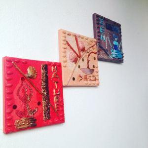 Tableau triptyque Nature Deco Zen par Mounia LOUKRISS