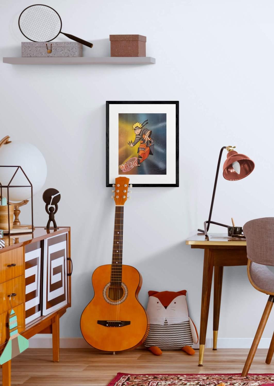 "Poster A3 "" Naruto Shippuden Uzumaki "" par Mounia LOUKRISS vendu et réapprovisionné"