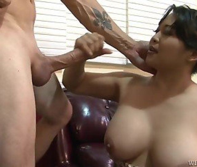 Asian Milf With Nice Tits Spreads Legs For Employer To Be Hired