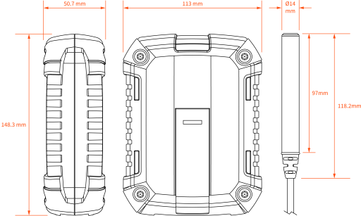 Technical Drawing of Gaia 220 and CMP5000