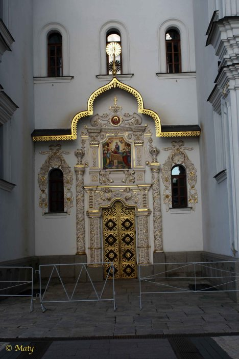 Details at the entrance to the Cathedral of the Dormition - Pecherska Lavra Monastery