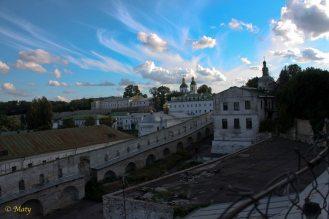 Pecherska Lavra Monastery and amazing sky