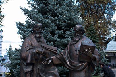Pecherska Lavra Monastery - religious sculptures