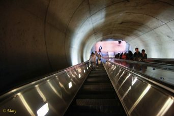 Escalator in the Court House Metro Station