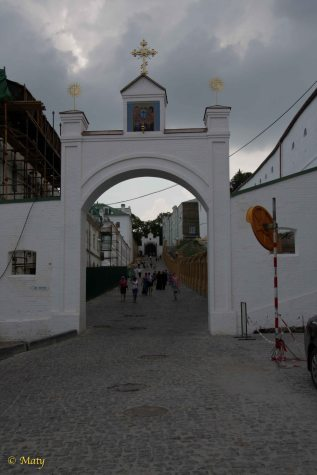 Pecherska Lavra Monastery, as seen on the photos from 2011, is under renovation