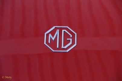 Fire Engine Red 1958 MG MGA roadster