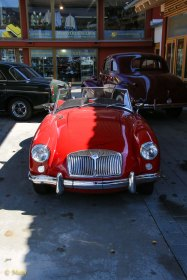 Fire Engine Red 1958 MG MGA roadster