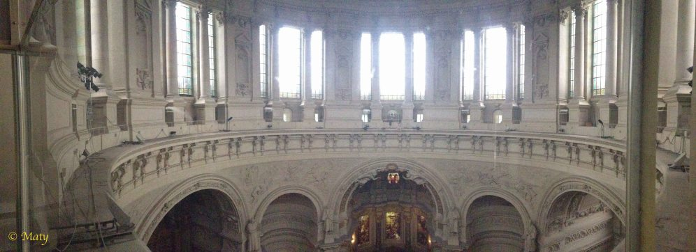 Panorama view of inside of the Berliner Dome
