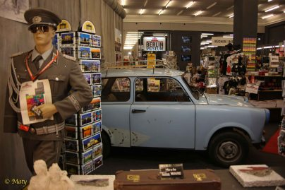 Blast from the past: East German Soldier and Trabant - East German plastic car = must see place