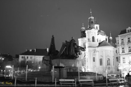 Prague - Old City in black and white