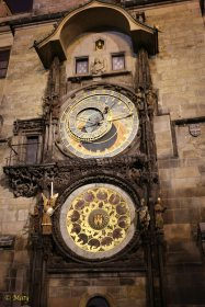 Sun clock at night - I guess batteries are not included - Prague, Old City