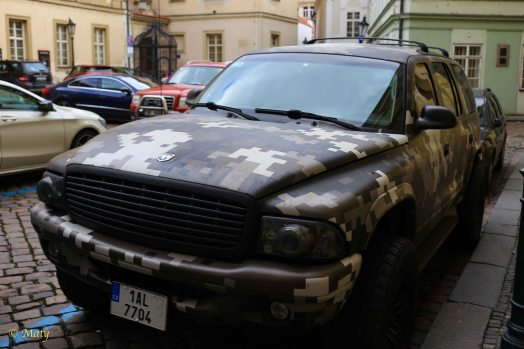 Dodge Durango in US Army Digital Camo in Prague