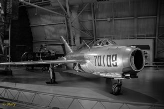 Mikoyan-Gurevich MiG-15 bis Fagot B in black and withe