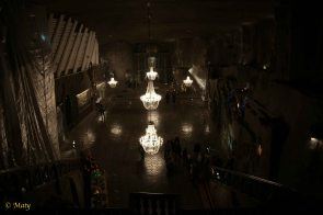Chapel of St. Kinga - the biggest room in Wieliczka. Naturally, it is made out of salt - it is full of salt sculptures.