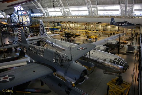 Vought Sikorsky OS2U-3 Kingfisher and Boeing B-29 Superfortress