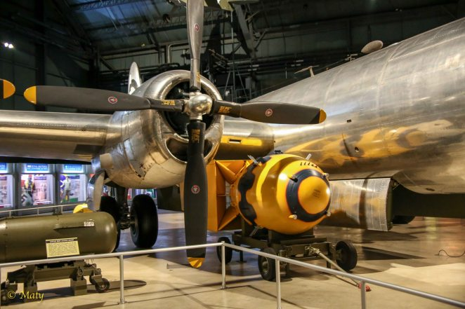 The B-29 on display, Bockscar, dropped the Fat Man atomic bomb on Nagasaki on Aug. 9, 1945