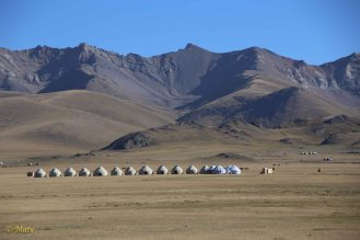 Our your hotel at Lake Song Kul - it was located quite a distance from the lake itself.
