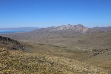 Lake Song Kul in the background