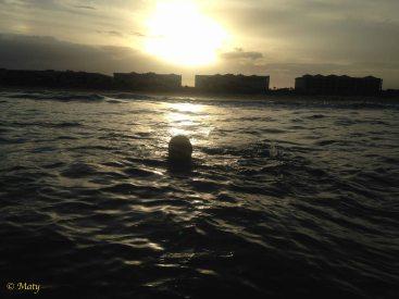 Night time swim in the ocean.... sweet!