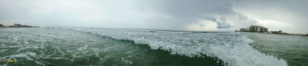 Ocean looks little angry