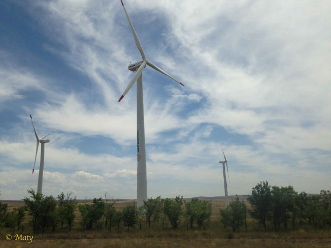 Some alternative energy farms in Kazakh steppe!