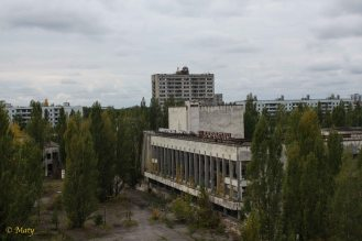 civic center and the tallest building in Pripyat