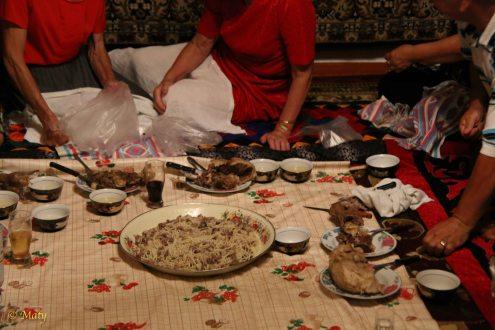 Beshhparmak, meat and tea... never ending celebration