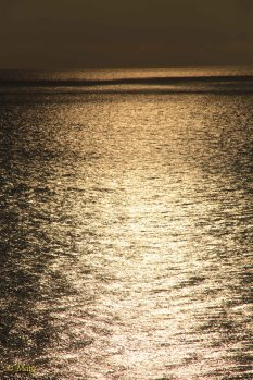 The ocean is gold