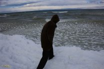 that is frozen Issyk Kul Lake. It should not freeze because it is salty but anyway!