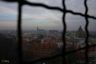 Krakow from the top of the Sigismund Bell Tower at Wawel
