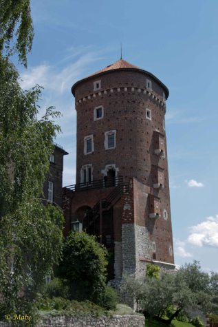 One of the fortifications towers at Wawel