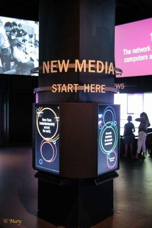 portion of museum dedicated to the new media (internet)