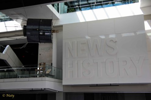 News history and communication satelite