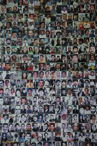 Memorial wall to the journalists killed on assignment