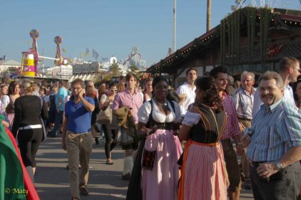 folks from all over the world come to the Octoberfest