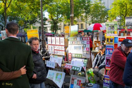 open art sale in Paris