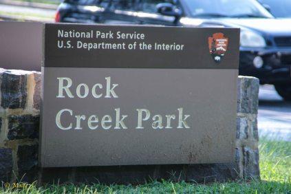 Entrance to the Rock Creek Park
