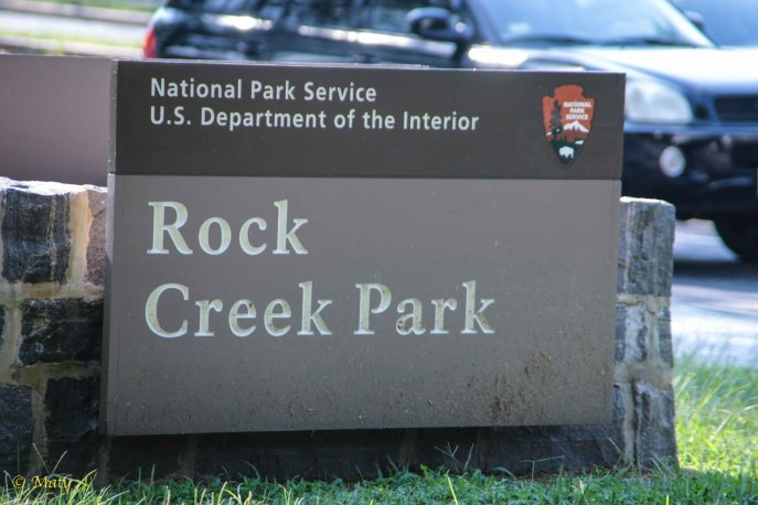 Entrance to the Rock Creek Park