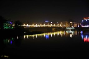 Night at Vistula (Wisla) River
