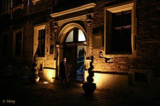 walking at night in Krakow