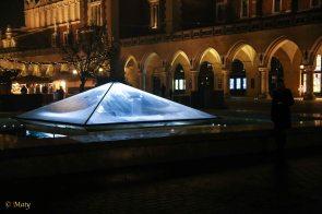 Under this plexiglass is the Underground Museum