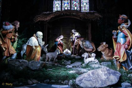 Nativity scene in the St. Mary's Basilica