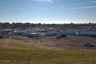Tent city in the North Parking Lot
