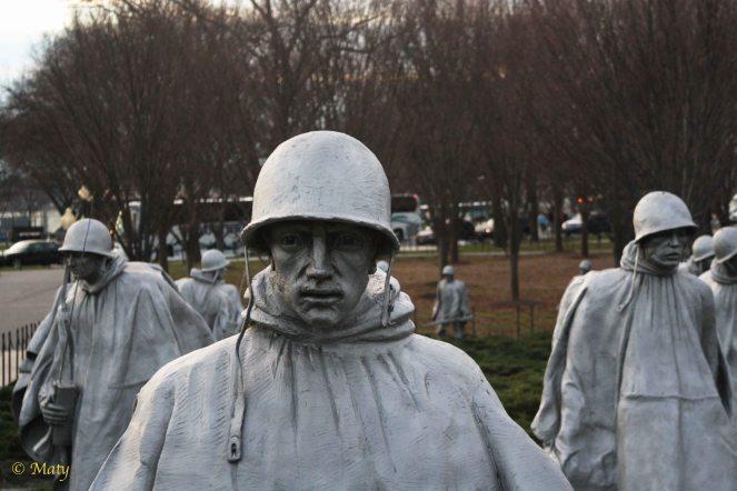 Korean War Veterans Memorial at Fall