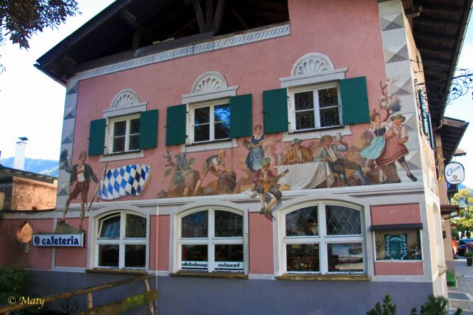 Garmisch - one of the restaurants with awesome painting