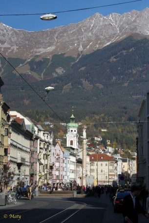 Innsbruck view at the mountains