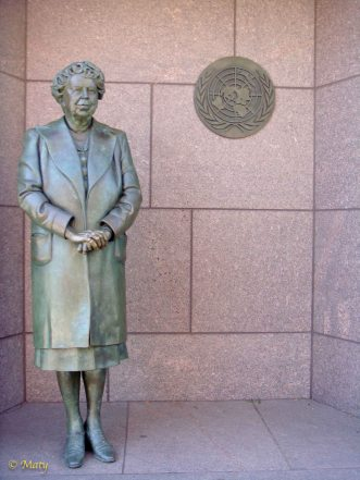 Statue of First Lady Eleanor Roosevelt at the Franklin Delano Roosevelt Memorial