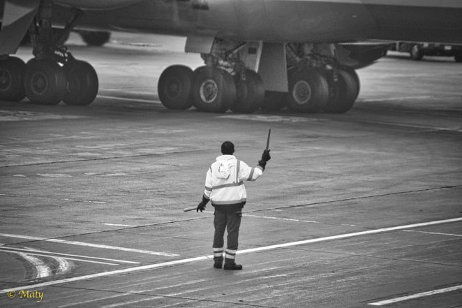 Human and jumbo jet