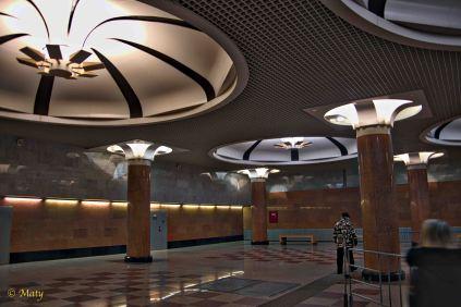 Victory Park station magnificient columns