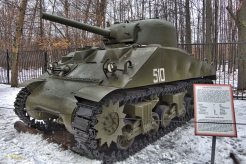 US medium M4A2 tank provided to the Soviet Union